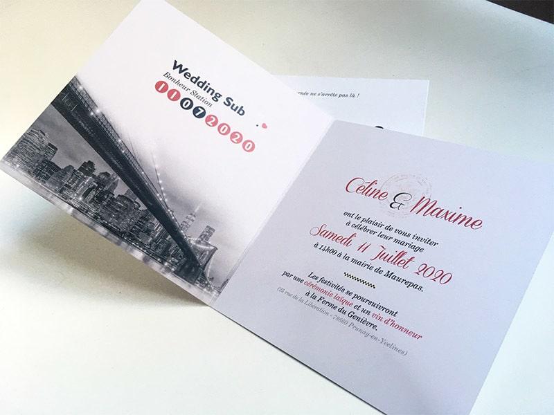 Carte invitation New York