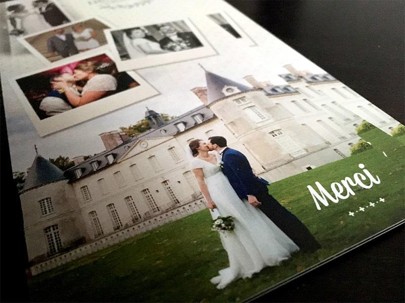 Remerciements mariage personnalisable