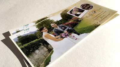 Carte de remerciements mariage