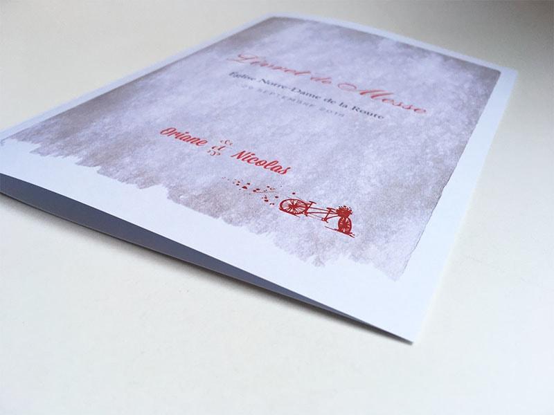 Livret de cérémonie mariage 4 pages