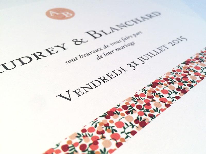 Faire part mariage liberty