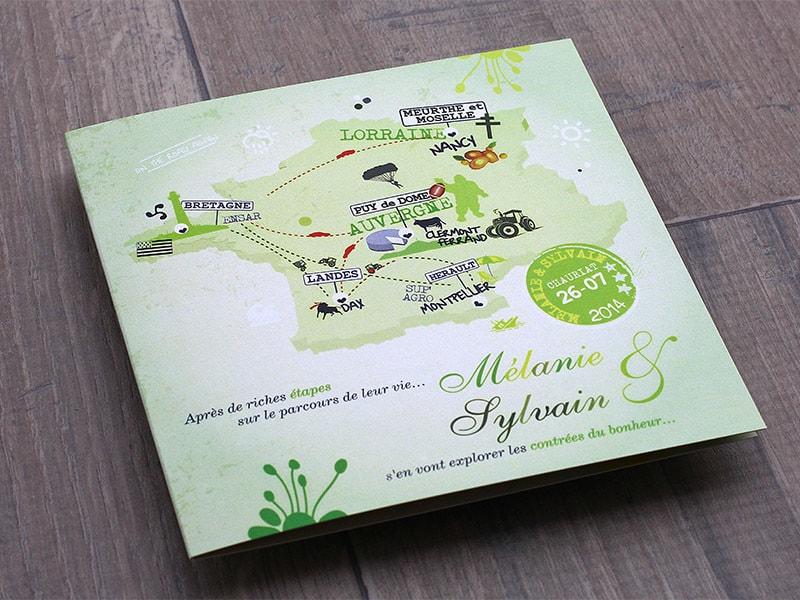 Mariage voyage carte de France