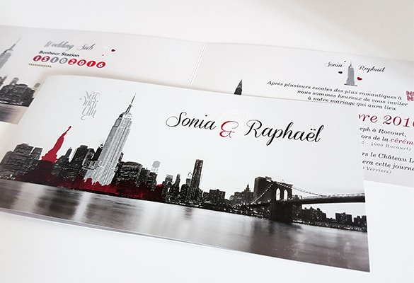 faire-part mariage New-York city