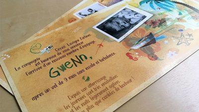 Faire-part naissance exotique Mayotte