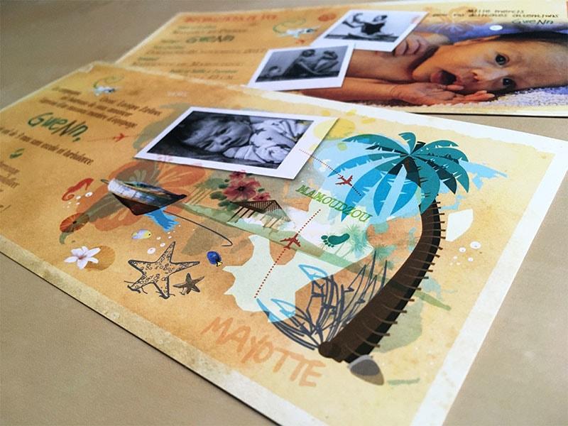 Faire part naissance île Mayotte Mamoudzou