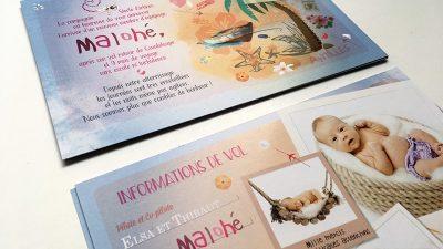 Faire part naissance format carte postale