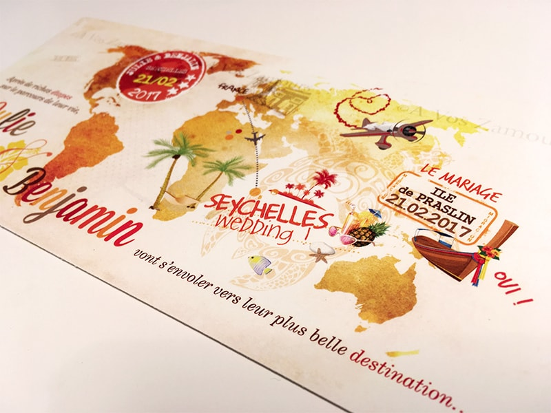 faire-part Seychelles