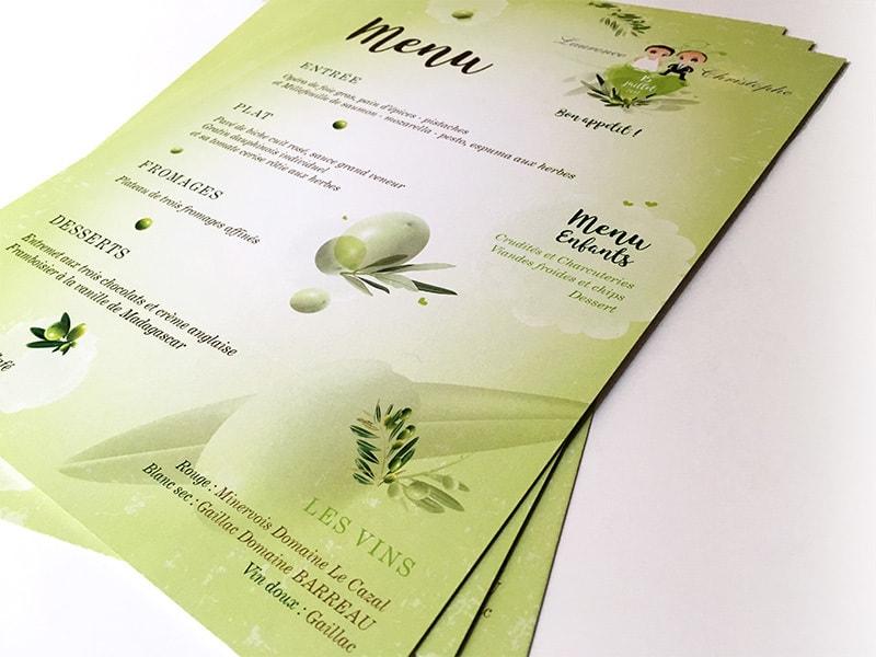 Idée de mariage vert thème nature oliviers