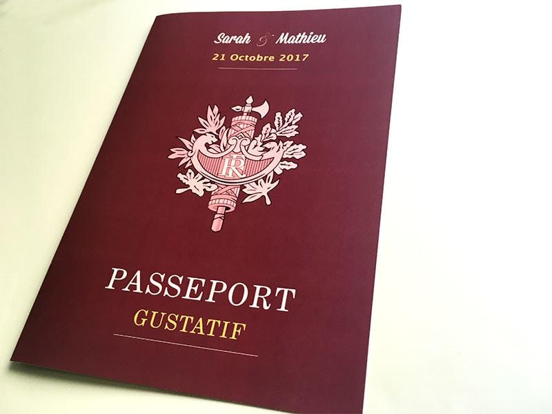 Menu type passeport république française