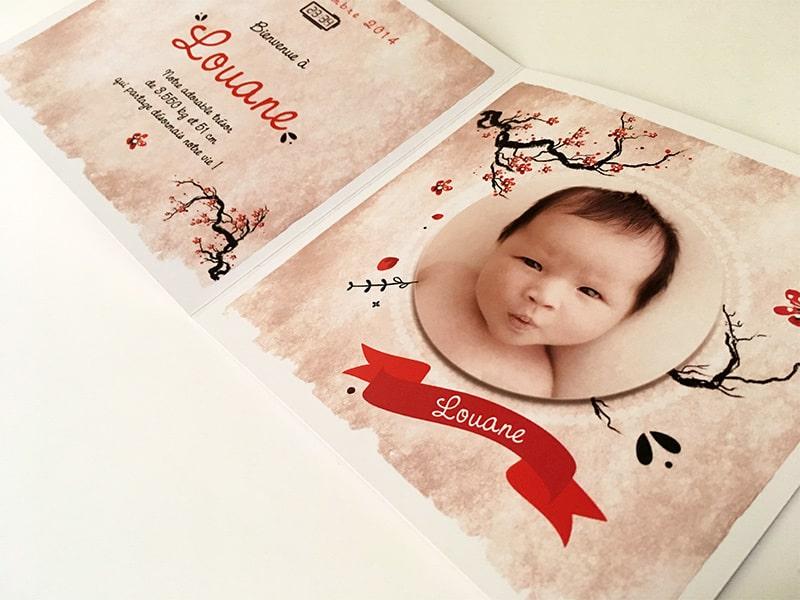 Idée faire part d'adoption Asie
