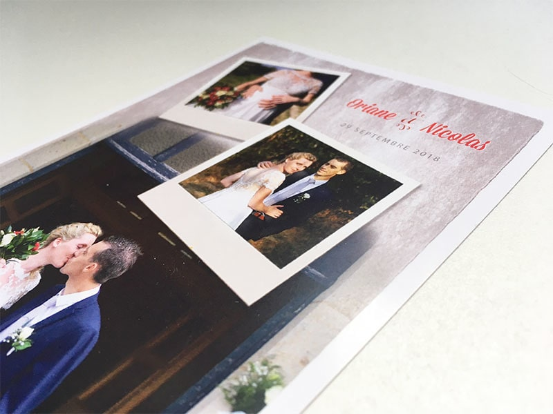 Remerciements mariage avec photos