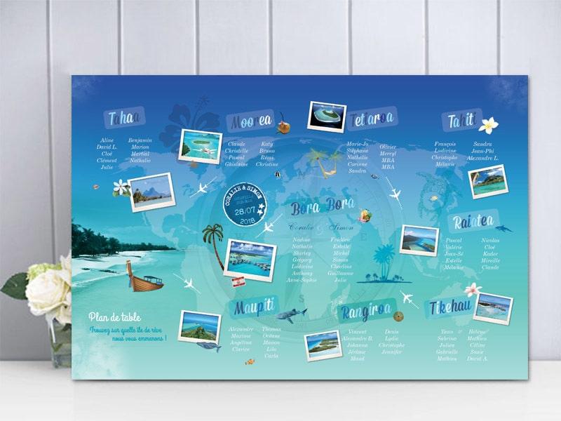 Plan de table Polynésie