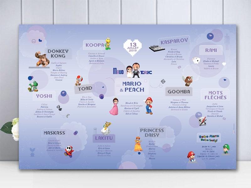 Plan de table original thème geek