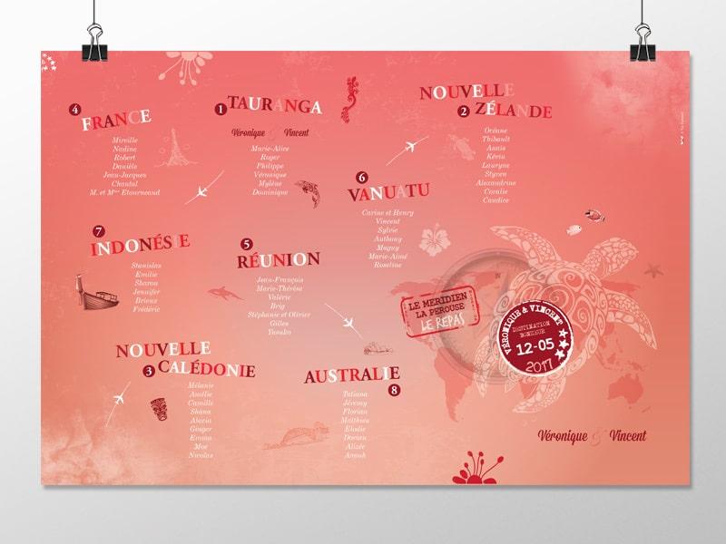 Plan de table Nouvelle Calédonie