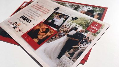 Papeterie mariage carte de remerciements