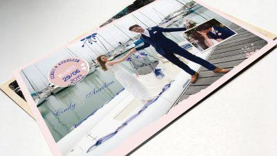 Carte de remerciements mariage chic