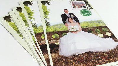 Remerciements mariage photo allongée