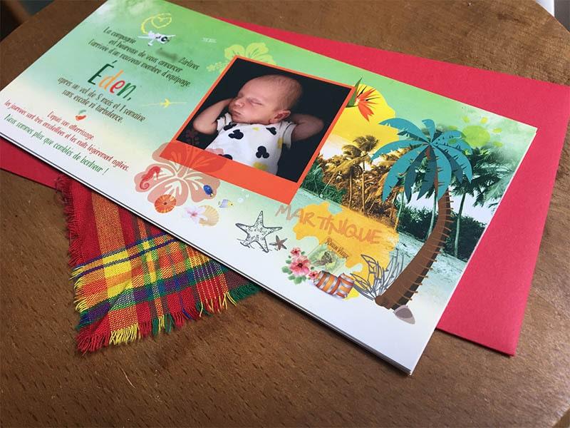 Faire-part bébé Martinique