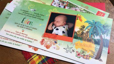 Faire-part naissance Antilles