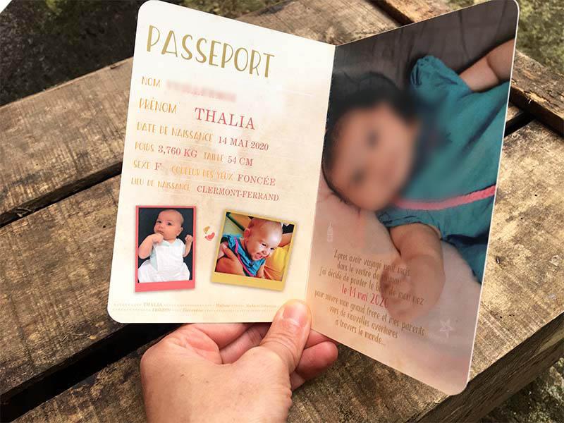 annonce naissance bébé passeport de voyage